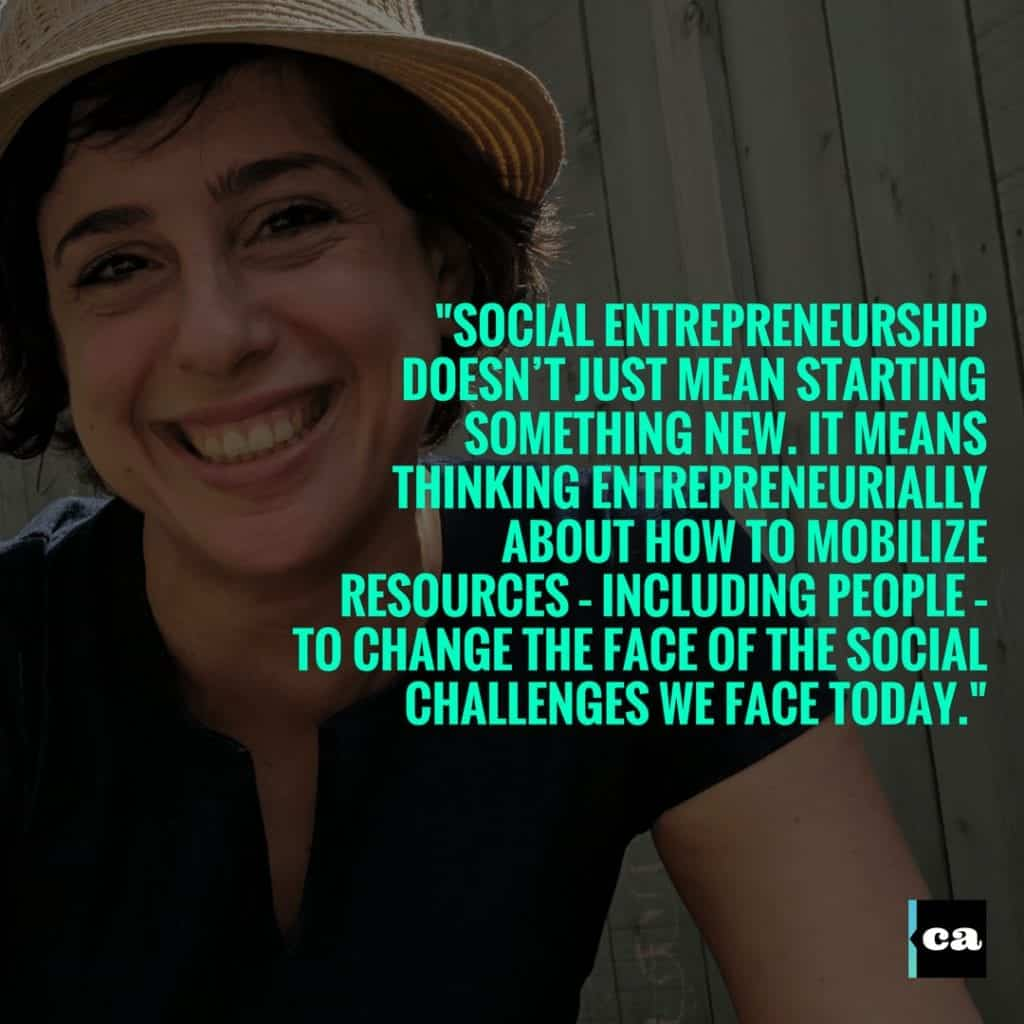 Teresa Chahine - Social Entrepreneurs and social impact in the Middle East