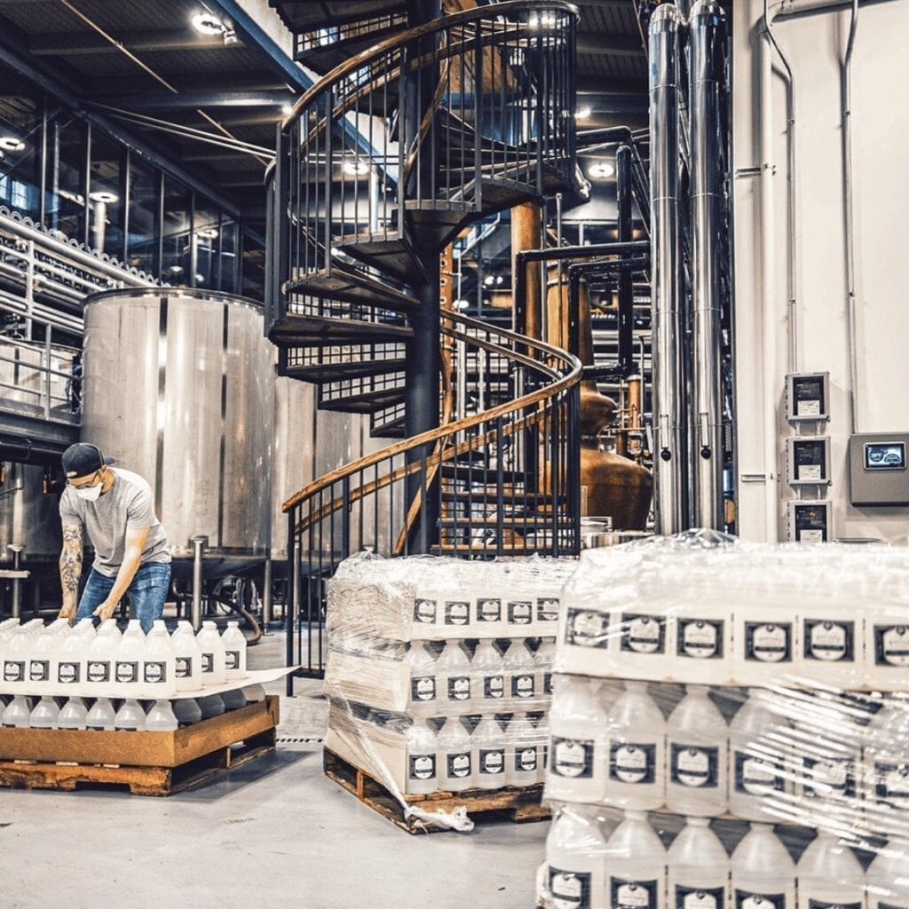 Andy Rieger, Co-founder of J. Rieger & Co Distillery Talks Navigating the Pandemic and Turning Their HQ Into a Full-Time Hand Sanitizer Production Facility