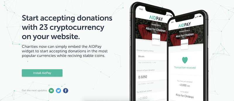 Impactful Crypto Projects  - Aid Coin